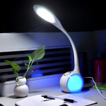 LED Färgglada Ögonskydd Läsning Bordslampa Justerbar Nattlampa LED-belysning