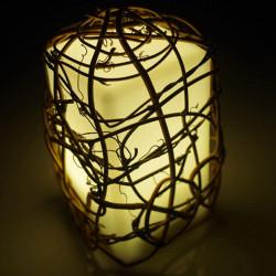LED Färgrik Fyrkantig Rattan Nattlampa KTV Bar Dekoration Lampa