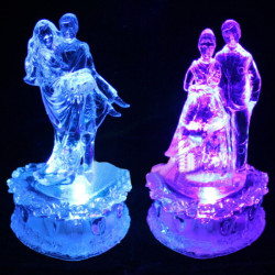 LED Couples Colorful Acrylic Night Light For Wedding Valentine Day