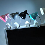 LED Ögonskydd Läsa Bok Ljus Justerbar Bordslampa med Klipp LED-belysning
