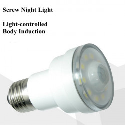 LED Light-controlled Body Induction Screw Night Light For Bedside