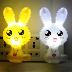 LED Light-controlled Rabbit Night Light Induction Bedside Lamp
