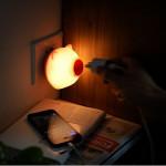 LED Light-controlled Sensor Pig Night Light For Children Bedroom LED Lighting
