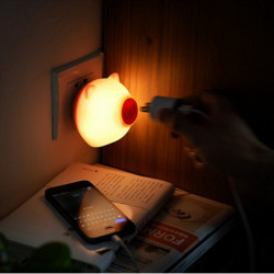LED Lys-Kontrollerede Sensor Pig Natte Lampe for Børn Soveværelse