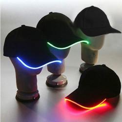 LED-ljus Glow Club Party Sports Athletic Svart Tyg Travel Hat Cap