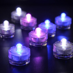 LED Luminous Flower Shape Waterproof Submersible Wedding Party Lights