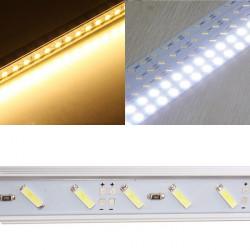 LED Lysrör Ljus 50cm 12V 36 SMD 7020 U Shape Vit