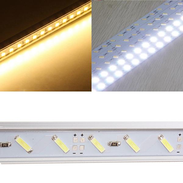 LED Stiv LED Bånd 50cm 12V 36 SMD 7020 U Shape Hvid LED Bånd / Lysbånd