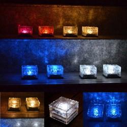 LED Solar Powered Crystal Ice Brick Außen unter der Erde Licht