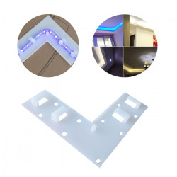 LED Strip Accessories L-Shape Clip Clamp For SMD 5050 3528 3014 Strip Light