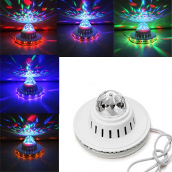 LED Sunflower Crystal Magic Bulb Lamp Full Color Rotating Stage Light