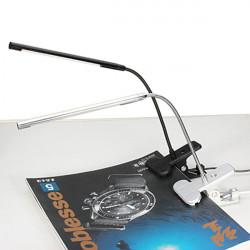 LED USB Smart Touch Dæmpning Bordlampe Clip Svanehals Læselampe