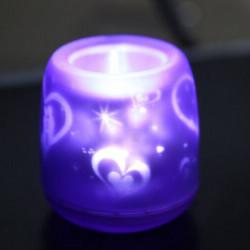 LED Sprachsteuerprojektions Kerze Lampen Partei Dekoration Nachtlicht