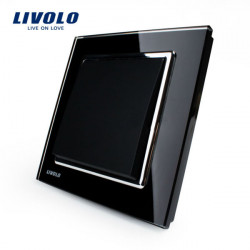 LIVOLO Black Crystal Glass K-Pad Wall Light Switch 1G1W VL-W2K1-11