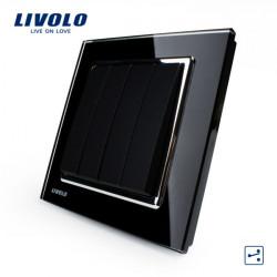 LIVOLO Black Crystal Glass K-Pad Wall Light Switch 4G2W VL-W2K4S-11