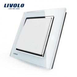 Livolo weiße Kristallglas K Pad Wand Lichtschalter 1G1W VL W2K1 12