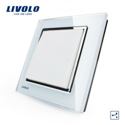 LIVOLO Vit Crystal Glass K-Pad Vägglampa Switch 1G2W VL-W2K1S-12