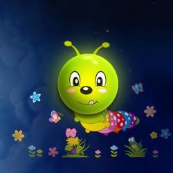 Lichtsensor Tapete Caterpillar LED Nachtlicht DIY Dekoration