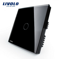 Livolo Black Crystal Glass Touch Panel Switch VL-C301-62 AC110-250V