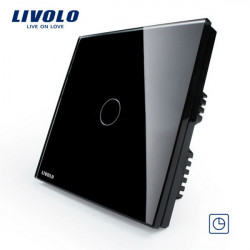 Livolo Black Crystal Glass Touch Panel Timer Delay Switch VL-C301T-62