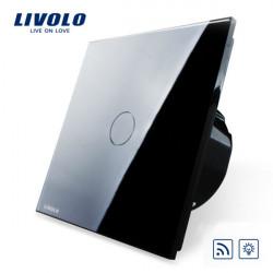Livolo Sort Glass Lysdæmper & Remote Touch Panel EU Switch VL-C701DR-12