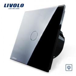 Livolo Schwarz Glass Touch Dimmer Panel Schalter EU Norm VL C701D 12