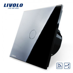 Livolo Black Glass Touch Panel Intermediate & Remote EU Switch VL-C701SR-12