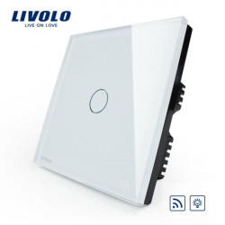 Livolo White Crystal Glass Dimmer&Remote Panel Switch VL-C301DR-61
