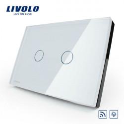 Livolo weiße Kristallglas Dimmer & Fernschalter VL C302DR 81