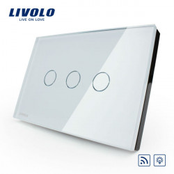 Livolo White Crystal Glass Dimmer&Remote Switch VL-C303DR-81