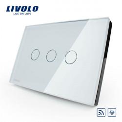 Livolo Vit Kristallglas Dimmer & Fjärrutlösaren VL-C303DR-81