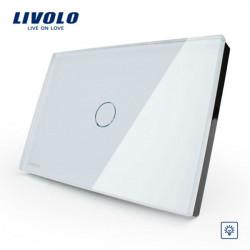 Livolo weiße Kristallglas Dimmerschalter VL C301D 81 AC110 250V