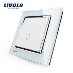 Livolo weiße Kristallglas Türklingelschalter Wand Push Button Switch