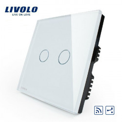 Livolo White Crystal Glass Intermediate&Remote Switch VL-C302SR-61