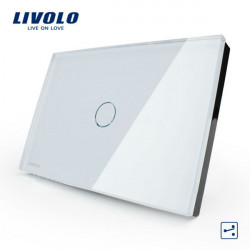 Livolo White Crystal Glass Intermediate Switch VL-C301S-81 AC110-250V