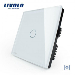 Livolo White Crystal Glass Touch Dimmer Switch VL-C301D-61 AC110-250V