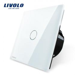 Livolo weiße Kristallglas Touch Panel Schalter EU Norm VL C701 11