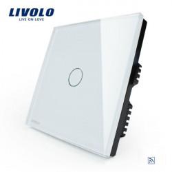 Livolo Hvid Crystal Fjernbetjening & Touch Panel Switch VL-C301R-61 AC110-250V