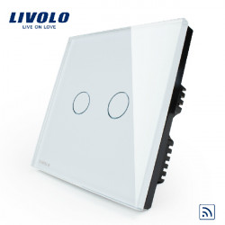 Livolo White Crystal Remote&Touch Panel Switch VL-C302R-61 AC110-250V