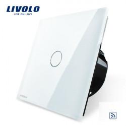 Livolo Weiß Glasverkleidung Fernbedienung & Noten Schalter EU Norm VL C701R 11