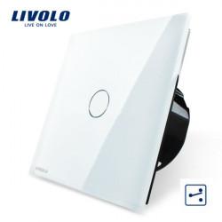 Livolo Vit Glass Touch Panel EU Standard Ställare VL-C701S-11