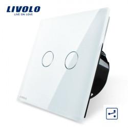 Livolo Vit Glass Touch Panel EU Standard Ställare VL-C702S-11
