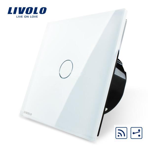 Livolo Weiß Glass Touch Panel Intermediate & Fern EU Schalter VL C701SR 11 Beleuchtung Zubehör