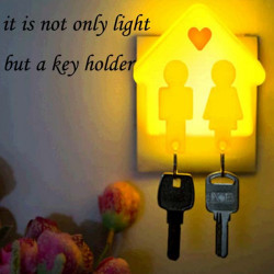Love of House Night Light With Key Holder LED Light-controlled Lamp