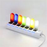 Mini 0,8 W Ultra Bright LED USB Mobile Power Lys Night Camping Lampe LED Bånd / Lysbånd