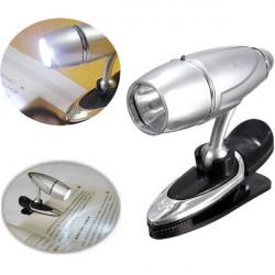Mini Bullet Shape LED Justerbar Læselys Klip Book Study Lamp