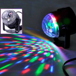 Mini RGB LED Crystal Magic Ball Effect Stage Light Lys Disco Club DJ
