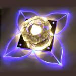 Moderne Klee Form LED Kristalldeckenleuchte Indoor Befestigungs Lampe LED Beleuchtung