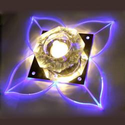 Moderne Clover Shape LED Crystal Loftslampe Indendør Fixture Lampe