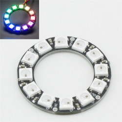 Ny LED Ring 12 X WS2812 5050 RGB LED Med Integrerede Drivere